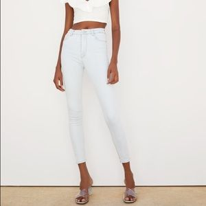 ZARA White High Waisted High Rise Skinny Jean